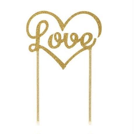 【Talking Tables】ケーキトッパー/LOVE/ゴールド [TT0205-TOPPER-LOVE-GLD]