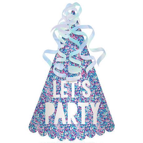 【amscan(アムスキャン)】グリッターコーンハット/Let`s Party/グリッターパープル [AM0301-250907]