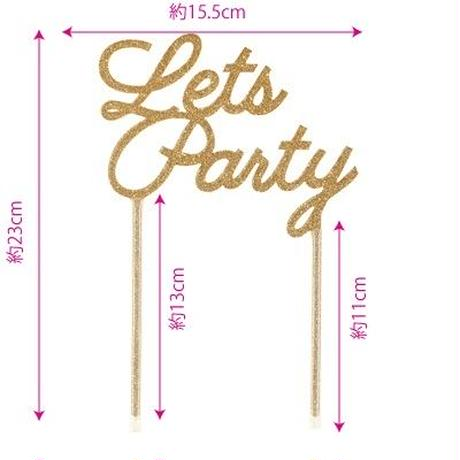 【Talking Tables】ケーキトッパー/Lets Party [TT0205-TOPPER-PARTY]