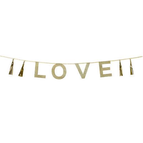 【メール便対応】Talking Tables パーティーバナー/ゴールド/LOVE [TT0101-SAY-LOVE]
