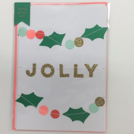 【MeriMeri】グリーティングカード/Xmasガーランド HOLLY JOLLY CHRISTMAS  [MM0401-42-0058]