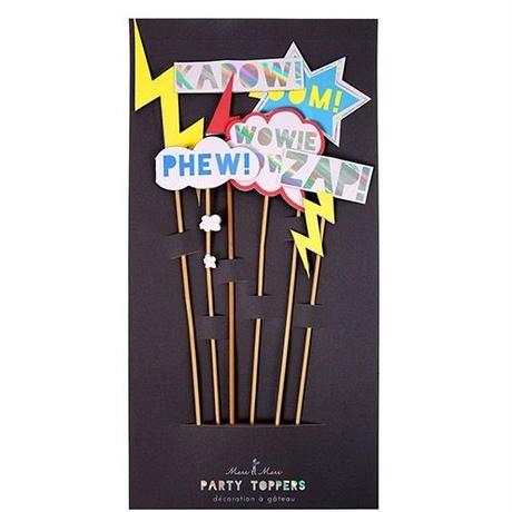 【MeriMeri】パーティートッパー/スーパーヒーロー/6本入り [MM0205-45-2309]