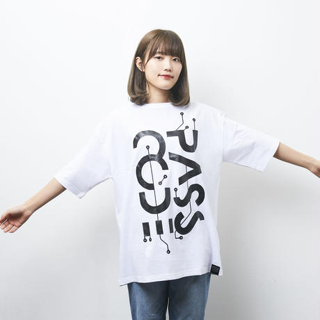 【PassCode・オンライン限定】BIG SILHOUETTE TEE(WHITE)