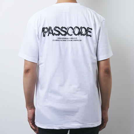 【PassCode】PROJECTION TEE(WHITE)