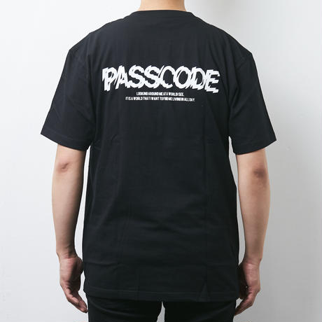 【PassCode】PROJECTION TEE(BLACK)