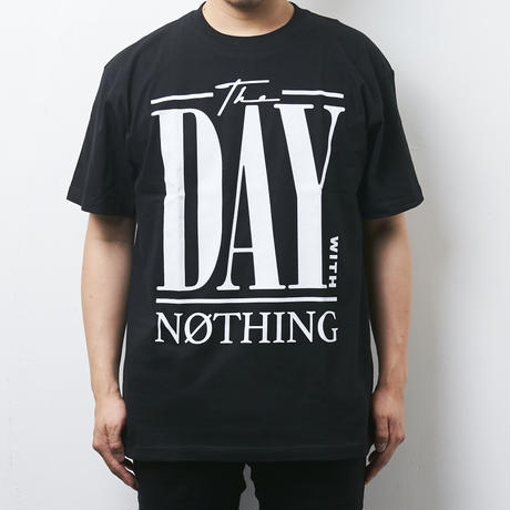 【PassCode】THE DAY WITH NOTHING TEE(BLACK)