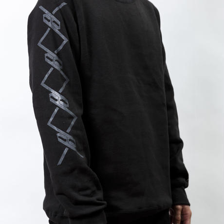 【PassCode・オンライン限定】CREW NECK SWEAT (BLACK)『CHAIN』