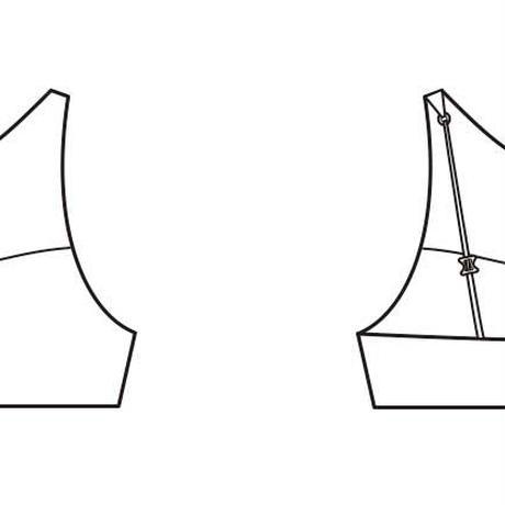 N.SENS ティーンブラ ROUGE X BEIGE STRIPE ノンワイヤー 2015024 定価¥6,264