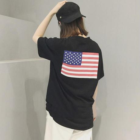 ストリート系 ボーイッシュ USA Tシャツ