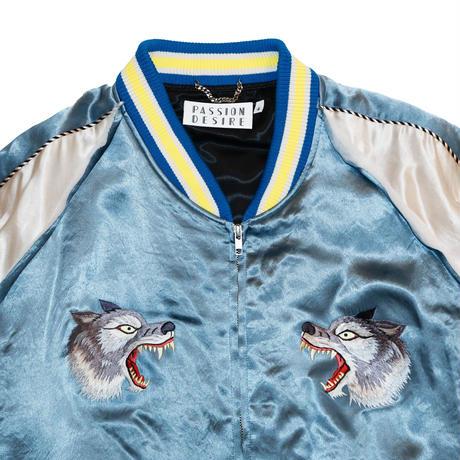 WOLF EMBROIDERED SOURVENIR JKT (BLU)