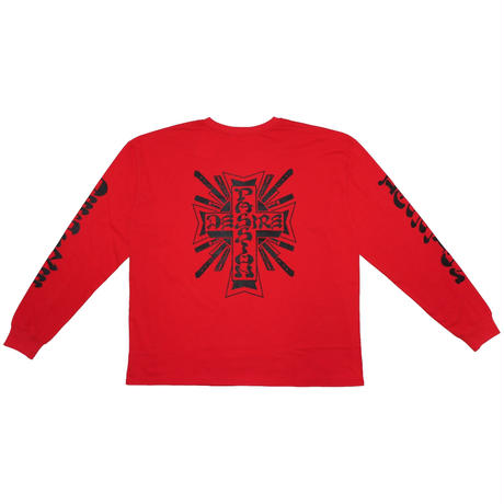 LONG SLEEVE T-SHIRT 'THE TOWN (RED)