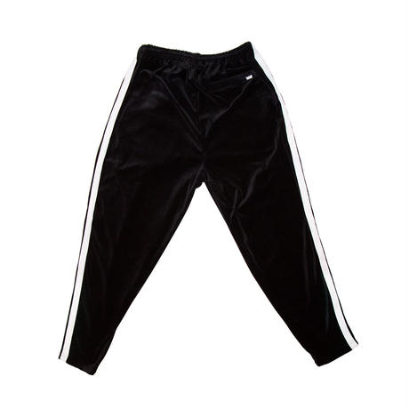 DOUBLE LINE JERSEY TROUSERS 'RELAX(BLACK VELOURS)
