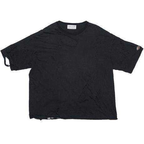 DOUBLE LAYERD USED T-SHIRT(BK)