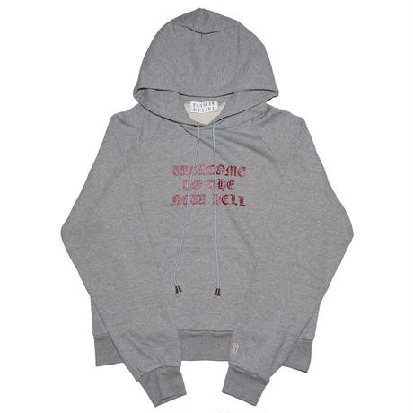 GLITTER PRINT HOODED  SWEATER 'NEW HELL GRAY