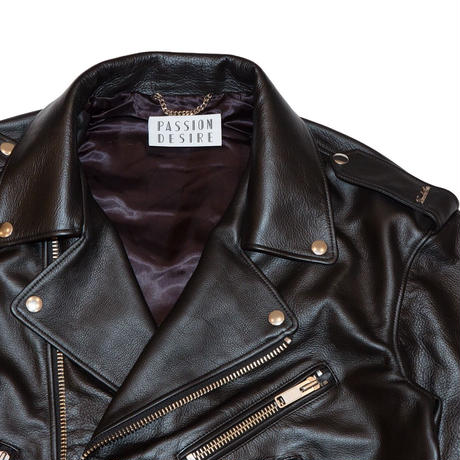LEATHER BIKER JACKET 'JIMMY