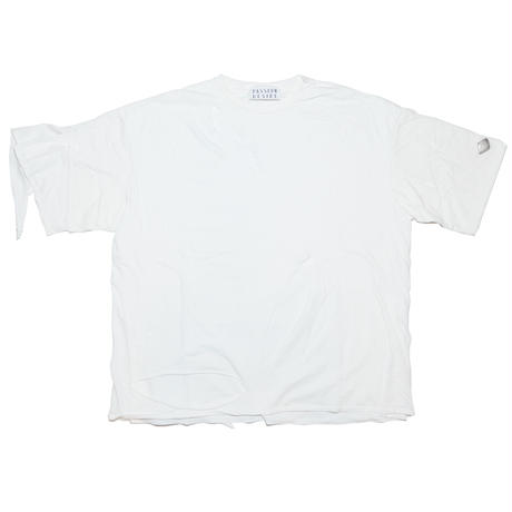 DOUBLE LAYERD USED T-SHIRT(WHT)