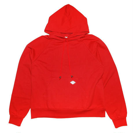 GLITTER BACKPRINT HOODED SWEATER(RED)