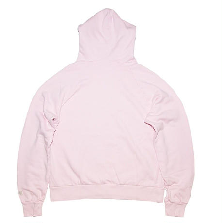 GLITTER PRINT HOODED SWEATER 'NEW HELL PINK
