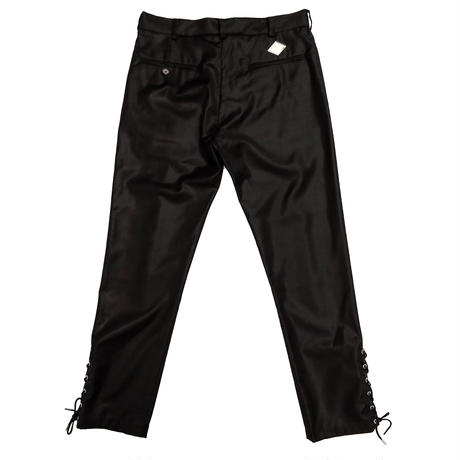 VIRGIN WOOL LACE UP TROUSERS