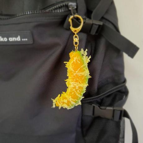 「かぼちゃ天ぷら」ほくほくの南瓜本物から型を作りました。