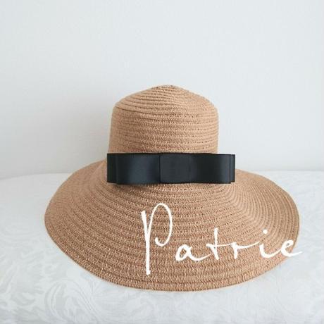 【UVカット】お上品リボン麦わら帽子