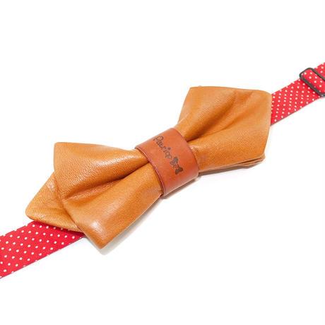 Patriqo Leather Bowtie Brown 本革蝶ネクタイ (ブローチ)