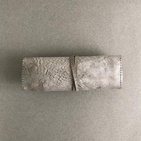 hini hini)革のペンケース[ALASKA グレイ]*受注制作 *送料込