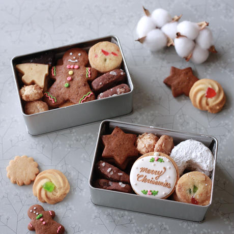 COOKIE ART PARTY)クリスマスクッキー缶(S)-オーナメント- *受注制作 *送料込