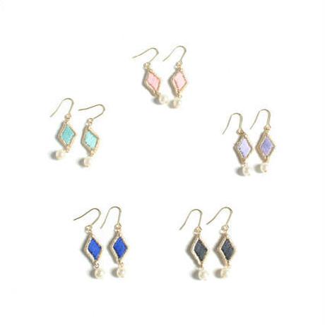 STITCHED DIAMOND PIERCE / EARRING