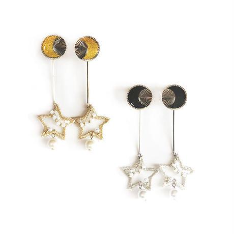 MOON STAR SWING PIERCE / EARRING