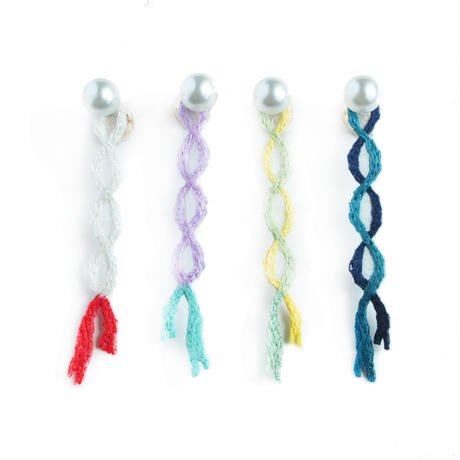CROSS RIBBON PIERCE / EARRING