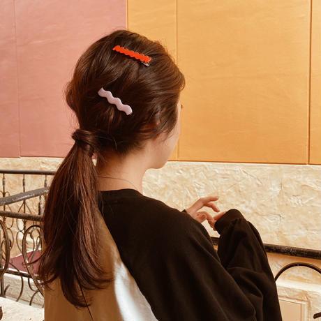 Thin line hair clip 2set