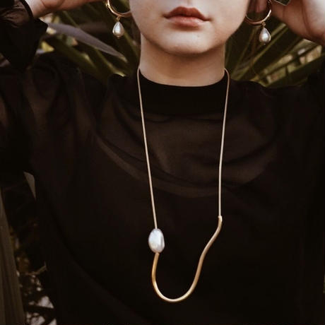 Gold Pipe  Pearl Hoops