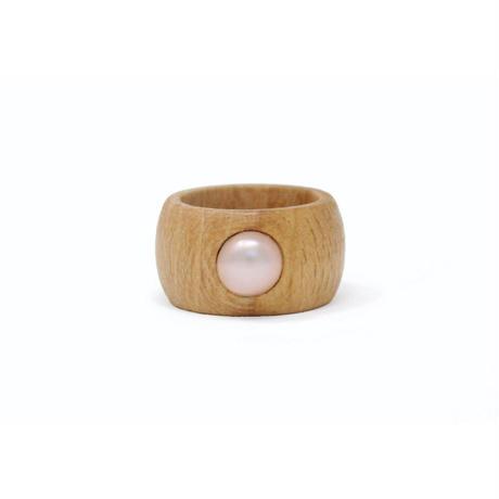 Wood & Pearl Ring
