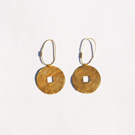 Gold Coin Hoops