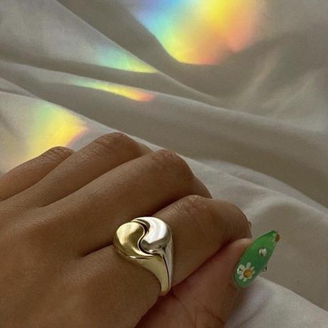 Yin Yang  Ring Set