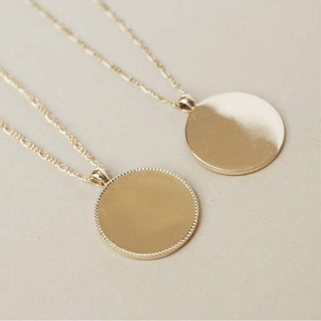 Circle Plate Necklace