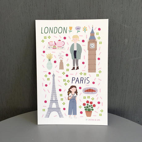 PARIS / LONDON card | Cristina de Lera