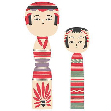 "Art Print ""Kokeshi""    Cristina de Lera"