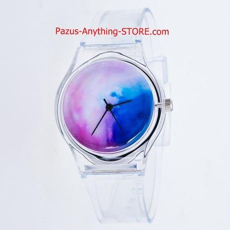 透明時計 シリコン腕時計 女性スポーツカジュアルクォーツ腕時計 クリスタル 女性腕時計 漫画 1783 9/25