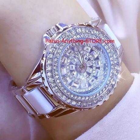 レディース腕時計 クリスタルドレス ドレスウォッチ ラインストーン セラミック腕時計 クォーツ時計 1781 9/25