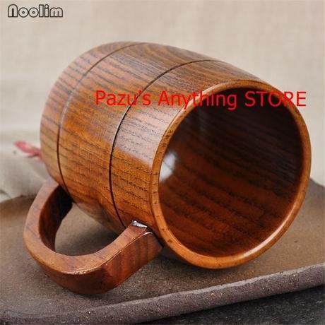 400ミリリットル 古典 木製ビール 茶 コーヒーカップ 水カ ップ 耐熱 オフィス パーティー 1522