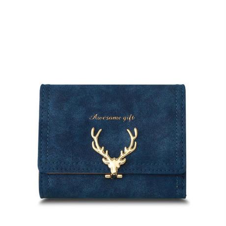 クリスマス 鹿 女性革財布 高級 女の子 黒いクラッチ財布 555