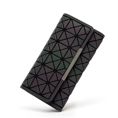 女性 長い財布 ジオメトリホログラフィック 発光クラッチ 577