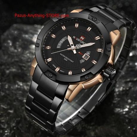 メンズ腕時計 男性フル鋼腕時計 クォーツ時計 アナログ 防水 スポーツ ミリタリー腕時計 1696 9/25