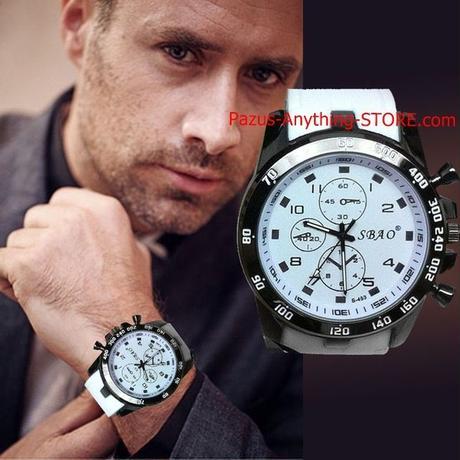 メンズスポーツ腕時計 男性シリコーンクォーツ時計 1729 9/25