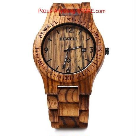 高級ブランド ウッド腕時計 男性 アナログクォーツ 日付 防水 木製腕時計 腕時計 1704 9/25