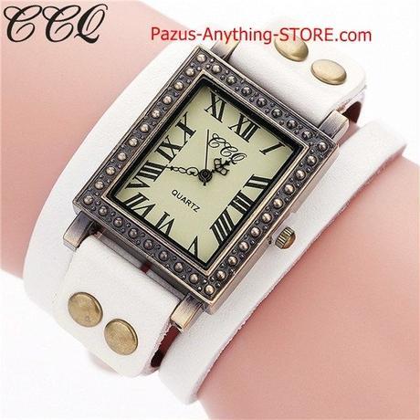 ヴィンテージ 本革ブレスレット腕時計 カジュアル女性腕時計 クォーツ時計 ギフト 1785 9/25