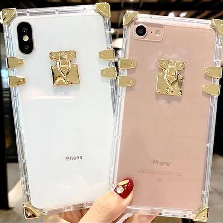 クリア ゴールドフレーム スマホケース iphone6 iphone7/8 7plus 8plus iphoneX アイフォンケース