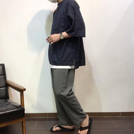 麻レーヨン ポケット付き BIG 半袖 Tシャツ(全2カラー)